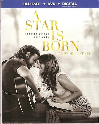 A STAR IS BORN BLURAY & DVD & DIGITAL SET with Lady Gaga & Bradley Cooper