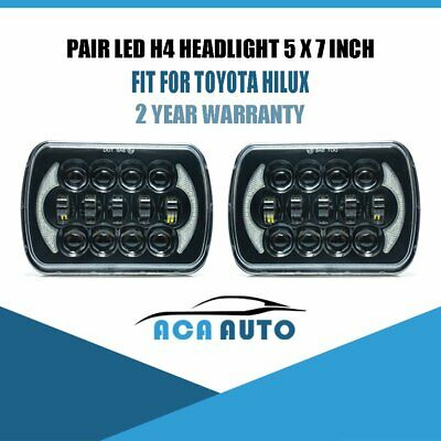 2PCS For HILUX LED UPGRADE HEAD LIGHT 5X7INCH HEADLIGHT REPLACEMENT Hi/Lo
