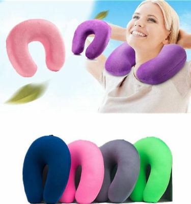 Memory Foam U Shaped Travel Pillow Neck Support Rest Sleep Head Cushion Portable