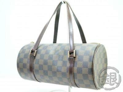 c46250ee708c Auth Pre-Owned Louis Vuitton Damier Papillon 26 Barrel Bag Purse N51304  190268