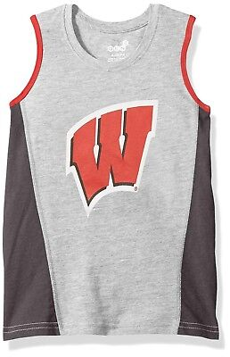 5ba1a7ed6 WISCONSIN BADGERS - NCAA Little Boy s Tank Top Muscle Shirt - GRAY - Large 7