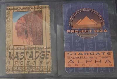 Trading Cards - Stargate SG1 - Movie (1994) - Licence and Pass- free shipping