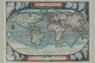 Old World Atlas Antique Style Map Mural inch Poster 36x54 inch