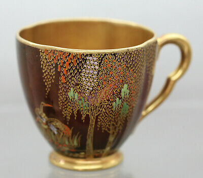 Beautiful 1930s Carlton Ware Rouge Royale Hand Painted Cup