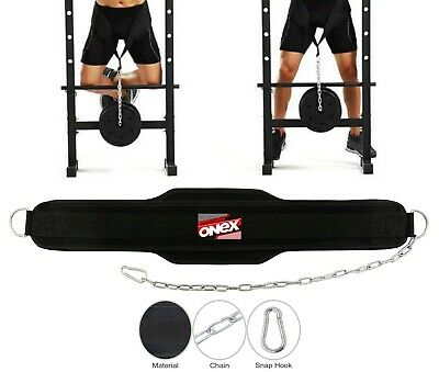 Dipping Belt Dip Weight Lifting Body Building With Chain Exercise Gym Training