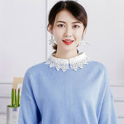 Ladies False Collar Fake Half Shirt Blouse Vintage Detachable Fashion 8C