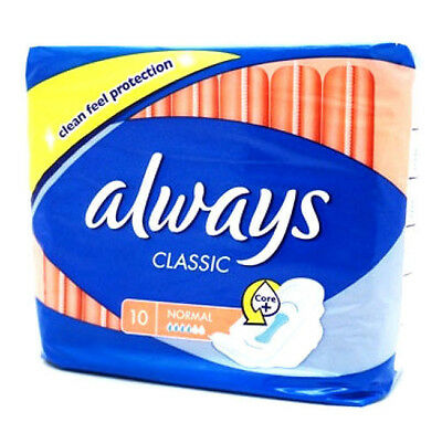 Always Classic Normal Sanitary Towels - Pack of 10 pieces