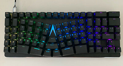 X-Bows Mechanical Ergonomic Keyboard - Silent Red Gateron Switches - never used