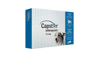 Capstar Flea Tablets For Dogs And Cats 2-25Lbs 6 Blue Tablets Treatment Kill