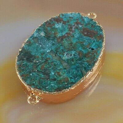 Blue Jasper Connector Gold Plated T075333