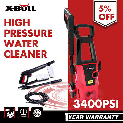 X-BULL High Pressure Water Cleaner Washer 3400 PSI Electric Gurney Pump Hose