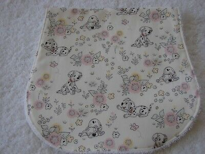 Baby Dalmatians White Burp Cloth Handmade