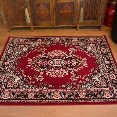 ALLY Red Rug Traditional Persian Floor Mat Carpet