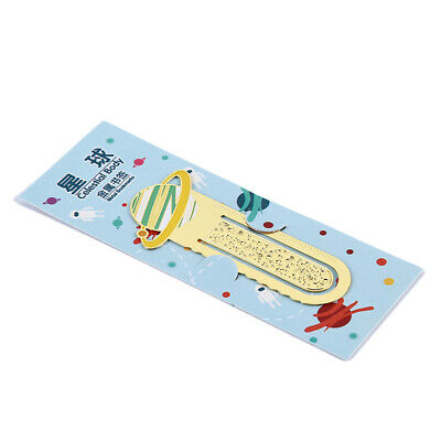 Novetly Planet Art Color Metal Magnetic Bookmarks School Stationery Supplies 8C