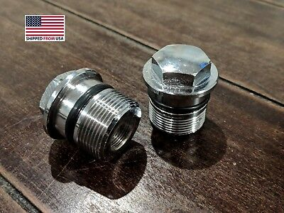 Fork Bolt Caps for Honda (Chrome SET)  CB450 500 550 750 MT XL CR250 and more!