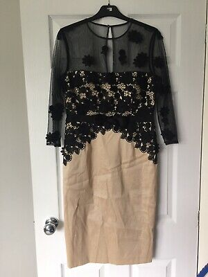 Mother Of The Bride/ Groom Dress Code By Veromia Gold/ Black Size 12
