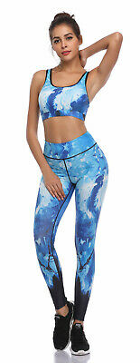 391| Ensemble Legging + Top Fitness Pantalon Femme Workout Yoga Pant Crossfit