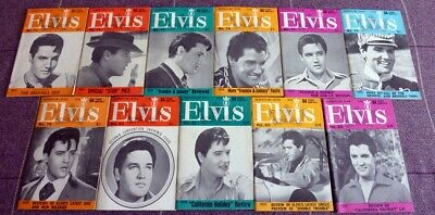 Elvis Presley, Elvis Monthly Magazines A Collection Of Eleven From 1966.