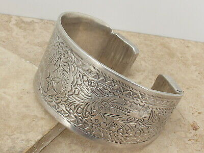 Antique North African Large Solid Silver Tribal Armet 252.3 grams