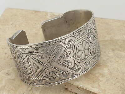 Antique North African Large Solid Silver Tribal Armet 307.9 grams