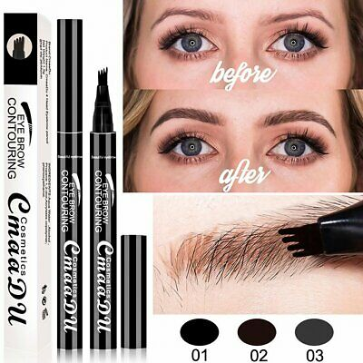 Makeup Tattoo Eyebrow Pen with Four-Fork Long-lasting Waterproof Eyebrow Pencil
