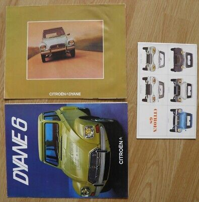 Citroên ami 6 , 2 CV , Dyane brochures de vente catalogue 1968 /1973