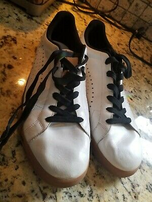 Used Puma Men s Leather Sneakers Athletic Tennis Shoe White Black Size 12 809d773529e