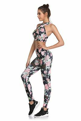403| Ensemble Legging + Top Fitness Pantalon Femme Workout Yoga Pant Crossfit