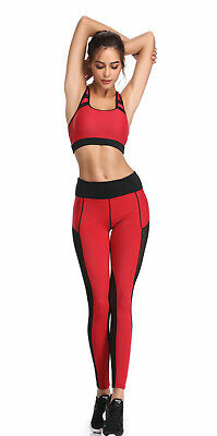 413| Ensemble Legging + Top Fitness Pantalon Femme Workout Yoga Pant Crossfit