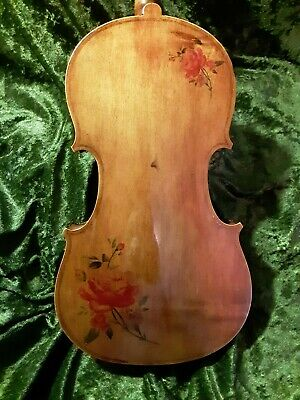 Violin 4/4 Vintage Full Size Interesting  Needs