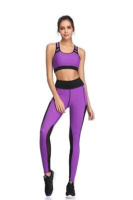 416| Ensemble Legging + Top Fitness Pantalon Femme Workout Yoga Pant Crossfit