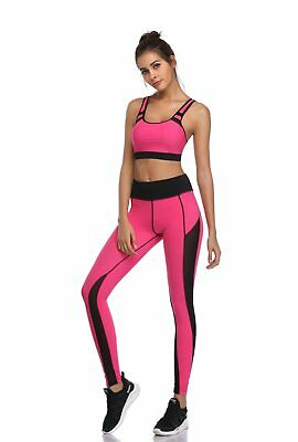 417| Ensemble Legging + Top Fitness Pantalon Femme Workout Yoga Pant Crossfit