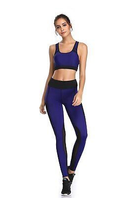 418| Ensemble Legging + Top Fitness Pantalon Femme Workout Yoga Pant Crossfit