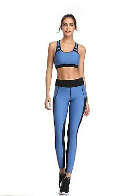 419| Ensemble Legging + Top Fitness Pantalon Femme Workout Yoga Pant Crossfit