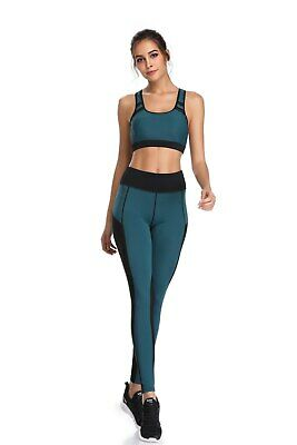 420| Ensemble Legging + Top Fitness Pantalon Femme Workout Yoga Pant Crossfit