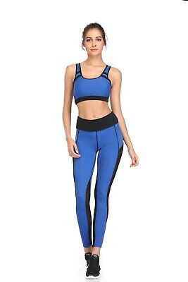421| Ensemble Legging + Top Fitness Pantalon Femme Workout Yoga Pant Crossfit