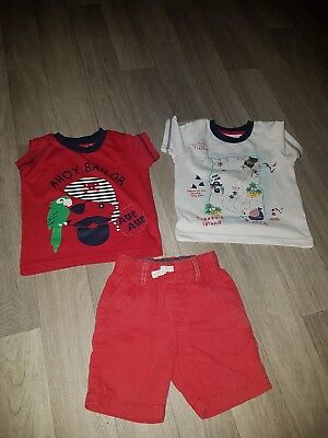 boys t-shirts x 2 and shorts age 12-18 months