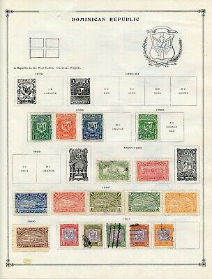 DOMINICAN REPUBLIC--Collection of 33 stamps mostly mounted on Scott Page to 1986