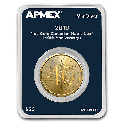 2019 Gold Maple Leaf 40th Anniversary (MintDirect® Single) - SKU#186587