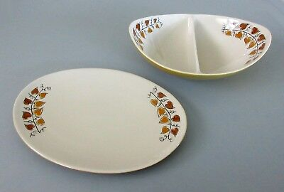 Vintage Mid-Century Modern Iroquois Informal Hearts of Gold Dishes by Ben Seibel