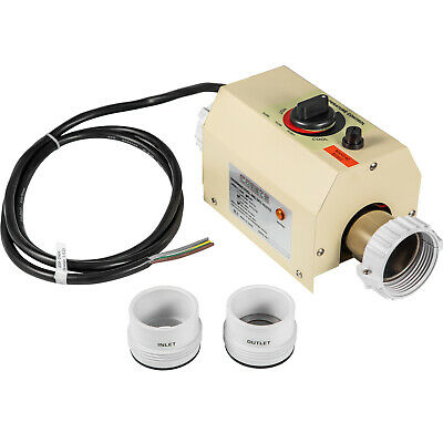 Electric Home Water Heater 3KW 220V Thermostat Swimming Pool & Hot Tub Bath SPA