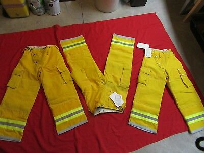 N.O.S. VINTAGE GLOBE Turnout PANTS 26 x 26  FIREFIGHTER FIREMAN BUNKER GEAR LION