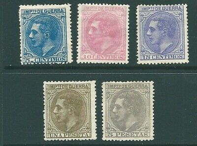 SPAIN early unused stamp group: Mint no Gum (b)