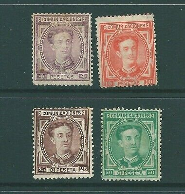 SPAIN early unused stamp group: Mint no Gum (d)