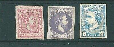SPAIN early unused stamp group: Mint no Gum (e)