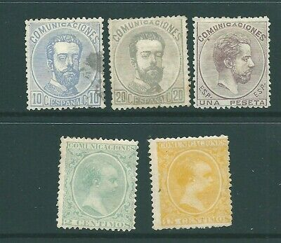 SPAIN early unused stamp group: Mint no Gum (f)
