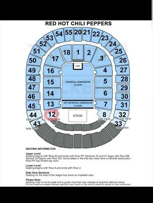Red Hot Chili Peppers Concert Tickets x 1 Melbourne Rod Laver Arena