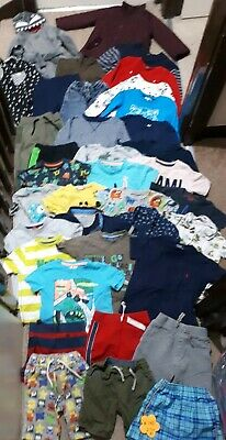 Huge Bundle Of Boys Clothes 2-3years #716 M&S GEORGE NEXT LEVI'S KENZO H&M