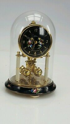 Antique Anniversary Kern Clock Glass dome Working order