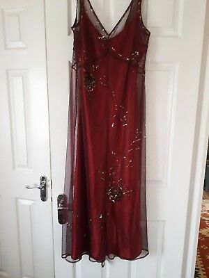 Press   Bastyan Size 12 dress beautiful beaded detail .gorgeous Gatsby dress 860ef5594d
